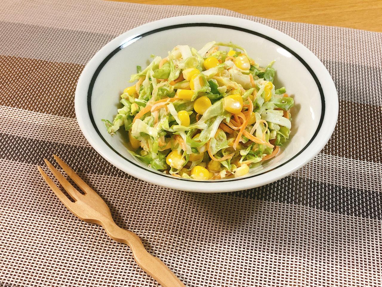 春キャベツの和え胡麻コールスローサラダ