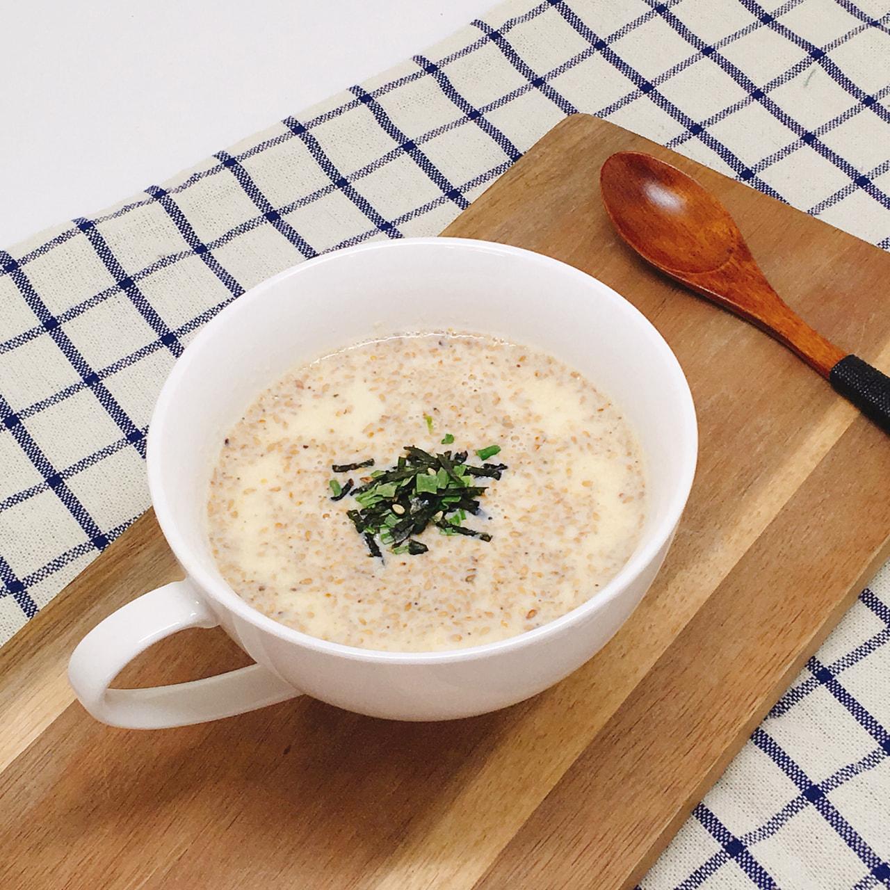 和え胡麻豆乳スープ