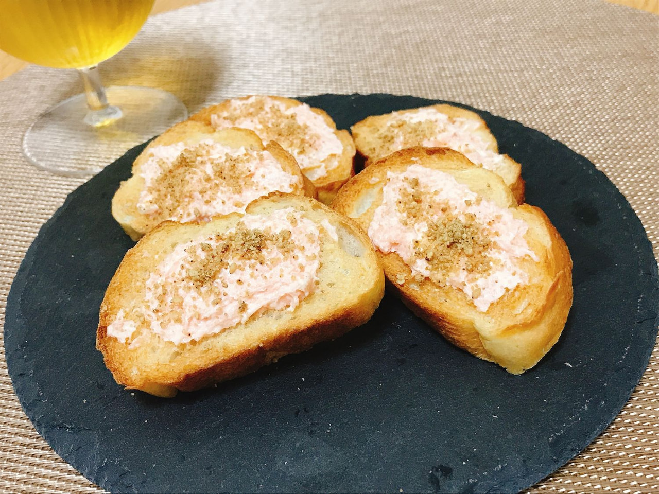 香る・゜・。白すりごまの明太子チーズトースト
