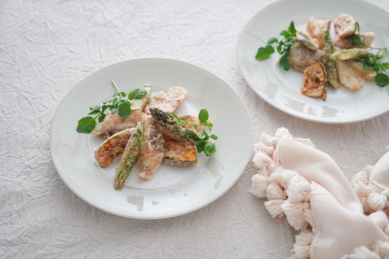 【かどや製油×カタギ食品 コラボレシピ】白身魚のごまフリット